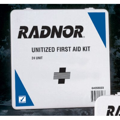 Radnor Person Unitized First Aid Kit In Plastic Case