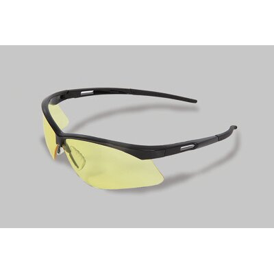 Radnor Series Safety Glasses With Black Frame And Amber Lens
