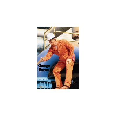 Red Kap Industries Regular Bleached White 8.5 Ounce Cotton Twill Coverall With Gripper Front Closure, Two Front Pockets, Two Patch Hip Pockets, Two Breast Pockets And Rule Pocket