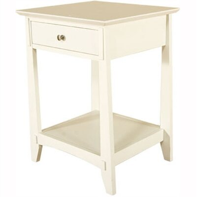 University Loft Mission White 1 Drawer Nightstand