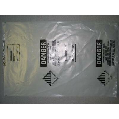 "TM Poly 33"" X 50"" Clear 6 Mil Disposal Bags Printed (75 Per Roll)"