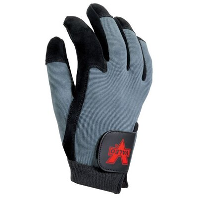 Black And Gray Split-Leather Full-Finger Anti-Vibration Gloves With AV GEL™ In Palm And Elastic ...