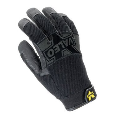 Valeo Inc Black Mechanics Pro Full Finger Mechaincs Gloves With Doubler Layer Palm, Padded Knuckes, Reinforced Fingertips, Stretch Back And Hook And Loop Cuff