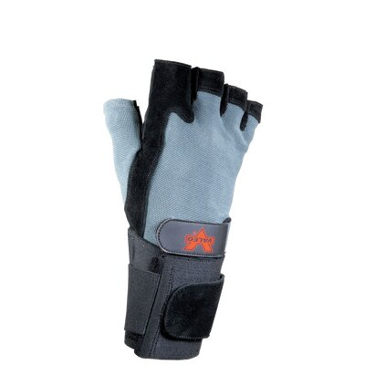 Black Split Leather Fingerless Anti-Vibe Gloves With AV GEL™ Padding, Stretch Back And Wrist ...
