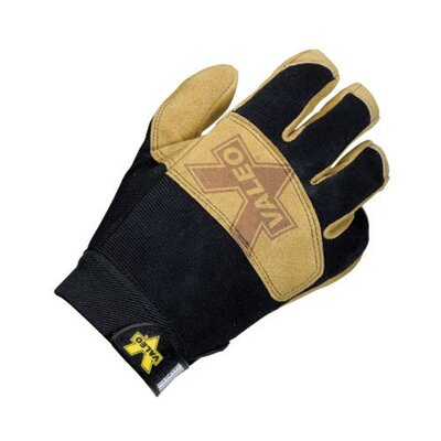 Tan Work Pro Leather Mechaincs Gloves With Sueded Palm, Stretch-Knit Padded Back, Padded ...