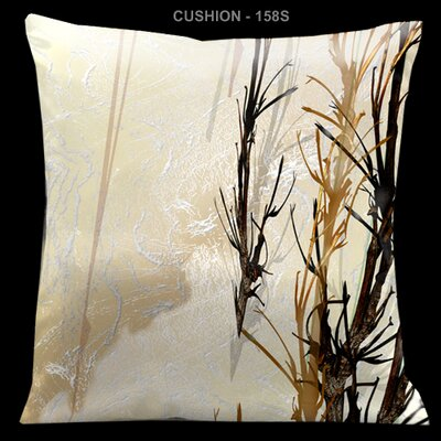 Lama Kasso Impressions Gold and Brown 18&quot; Square Micro-Suede Pillow
