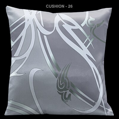 Lama Kasso Precious Metals Silver Grey 18&quot; Square Satin Pillow