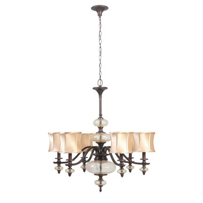 Chambord 6 Light Iron Chandelier