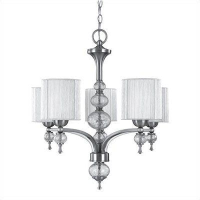 World Imports Uptown 5 Light Contemporary Chandelier