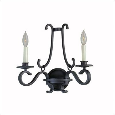 World Imports Sophisticated Detail 2 Light Wall Sconce