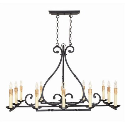 World Imports Inspirational Iron 12 Light Chandelier