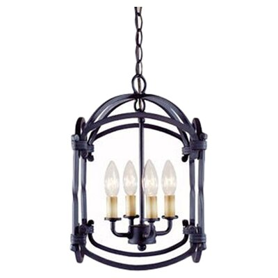 <strong>World Imports</strong> Iron 4 Light Hanging Lantern