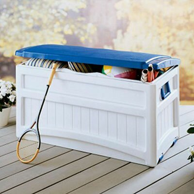 Resin 73 Gallon Deluxe Deck Box