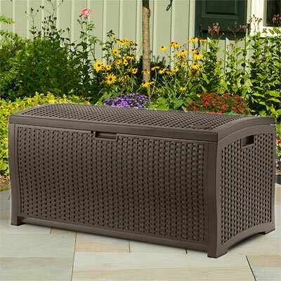 Resin Wicker 73 Gallon Deck Box