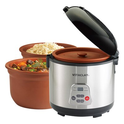 <strong>Vitaclay</strong> 2-in-1 N' Slow Rice Cooker