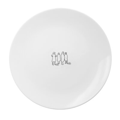 InkDish Tug Dinner Plate