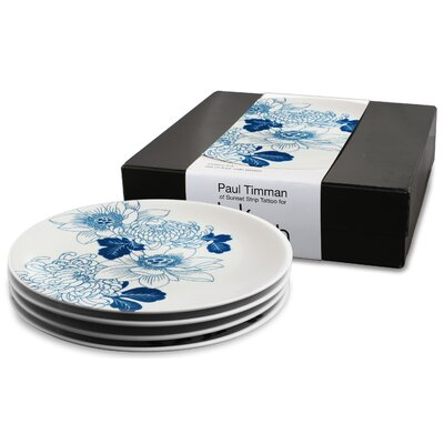 Ink Dish Tattoo Lotus 4 Side Plate Gift Set