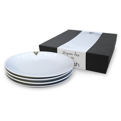Ink Dish White Noise 4 Side Plates Gift Set