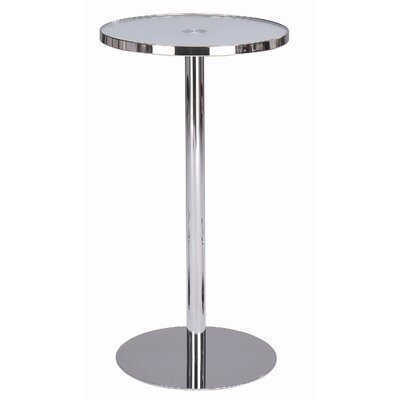 Cafe Bar Table in Frosted Chrome