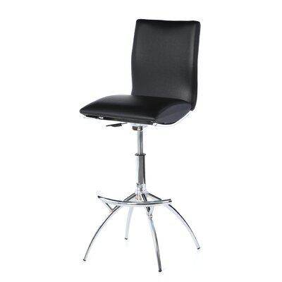 "New Spec Inc 25.98"" Adjustable Bar Stool with Cushion"