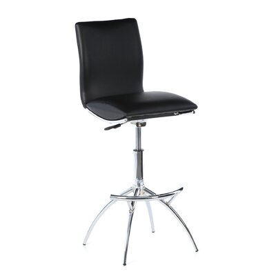 New Spec Inc Barstool 60 Adjustable Barstool in Black