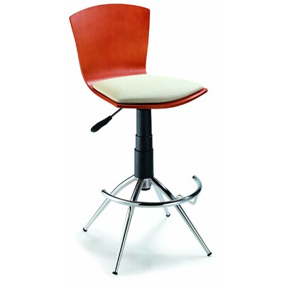"New Spec Inc 24"" Adjustable Bar Stool with Cushion"