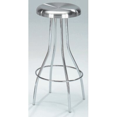 New Spec Inc Counterstool 53 Swivel Counter Stool in Stainless Steel
