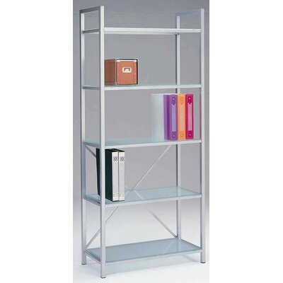 New Spec Inc S-Unit 205 Bookshelf with Glass Top