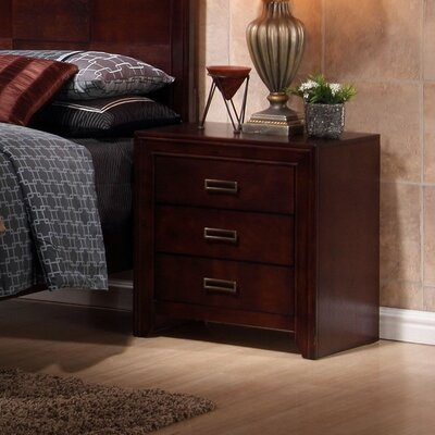 New Spec Inc Otago 3 Drawer Nightstand