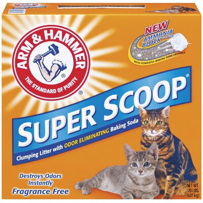 Arm & Hammer® Super Scoop Clumping Unscented Litter 20 Pound