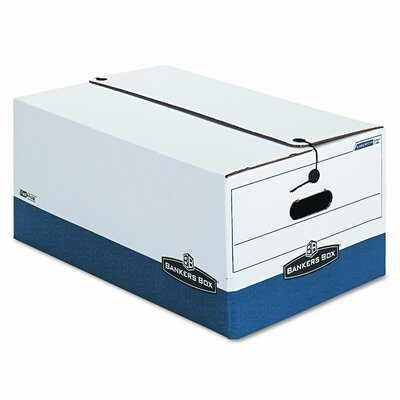 Bankers Box® Liberty Max Strength Storage Box, Legal, 15 x 24 x 10, WE/BE, 4/Ctn