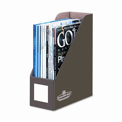 Bankers Box® Decorative magazine file, 1 pocket, 4w x 9d x 11 1/2h, mocha brown