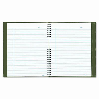 Blueline® Exec Wirebound Notebook, College/Margin Rule, 9-1/4x7-1/4, 150 Sheets