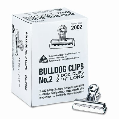 Bulldog Clips, Steel, 1/2