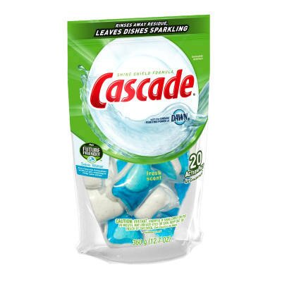 Cascade® Action Pacs Automatic Dishwasher (5 Bags Per Case)