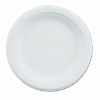 """Chinet Paper Dinnerware, Plate, 6"""" Diameter, White, 1000 per Carton"""