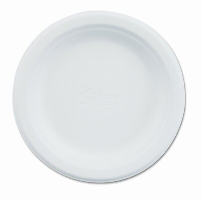 Chinet Paper Dinnerware, Plate, 6&quot; Diameter, White, 1000 per Carton                                                                 