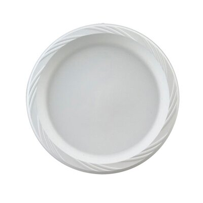 "Chinet 10.25"" Round Plastic Plates in White"