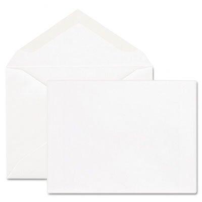 Columbian Envelope Greeting Card Envelope, 5 3/4 x 8 3/4, 24 lb, White, 100/Box