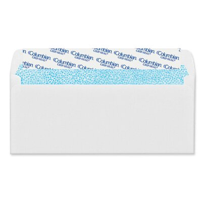 Columbian Envelope Grip-Seal Business Envelope, 4 1/8 x 9 1/2, 24 lb, White, 250/Box