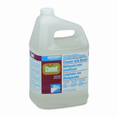 Procter & Gamble Commercial Comet Cleaner w/Bleach, Liquid, 1gal. Bottle