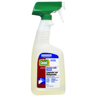 Comet RTU Cleaner with Bleach Liquid Trigger Spray Bottle
