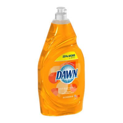 Dawn Antibacterial Manual Pot and Pan Dish Detergent Liquid Bottle