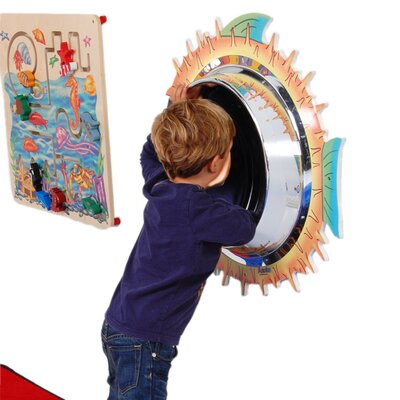 "Anatex 28"" H x 28"" W Blowfish Wall Panel Mirror"