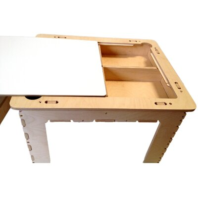 Anatex Flip Top Dry Erase and Chalk Table with Bench