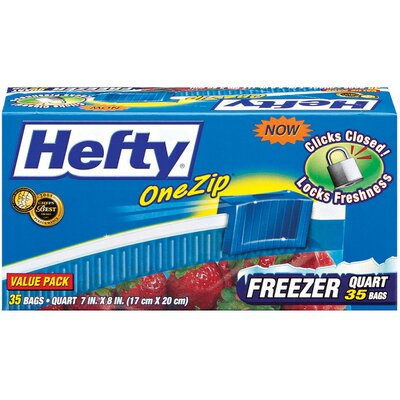 Hefty One Zip Freezer Bag 35/box