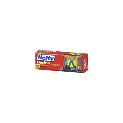 Hefty 33 Gallon Cinch SakTrash Bag 10/box