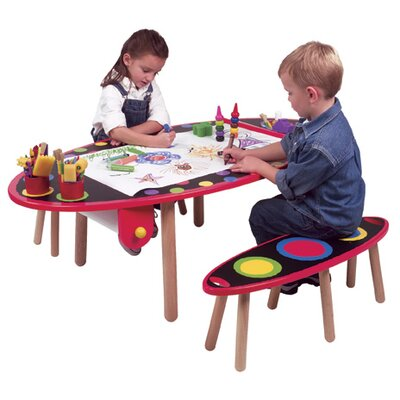 ALEX Toys My Room Kids' 3 Piece Table and Bench Set