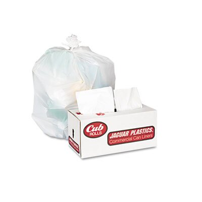 Jaguar Plastics® Cub Commercial Low-Density Roll Can Liners, 250/Carton