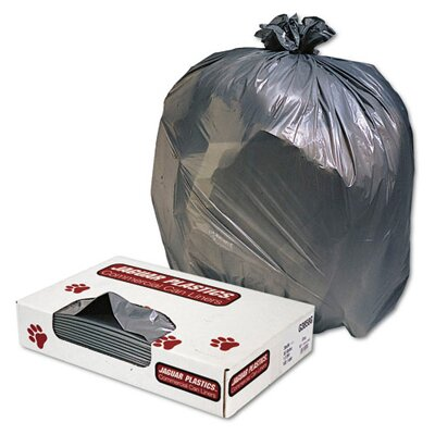 Jaguar Plastics® Low-Density Can Liner 45-Gallon, 1.1 Mil in Gray